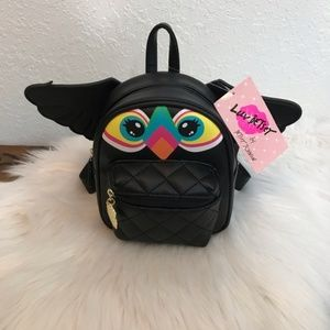 Betsy Johnson small backpack 🎒 with Owl 🦉 face